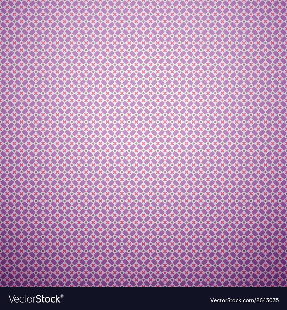 Beautiful pattern tiling pink purple and white vector | Price: 1 Credit (USD $1)