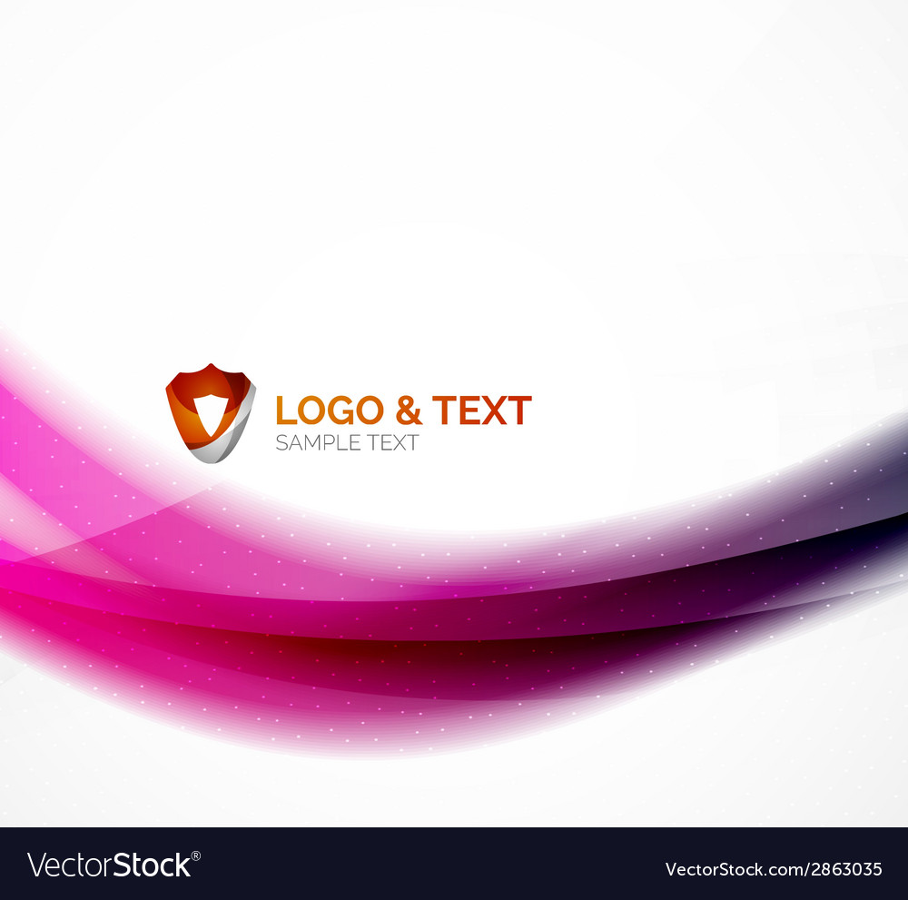 Blurred shiny wave purple and blue colors vector | Price: 1 Credit (USD $1)