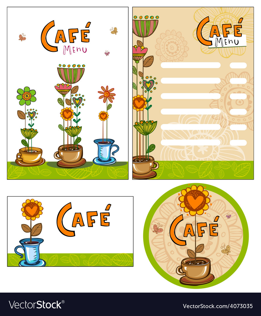 Corporate style for cafe or shop vector | Price: 1 Credit (USD $1)