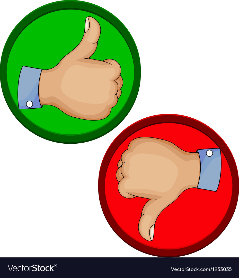 Hand gesture like unlike with thumb up icon vector | Price: 1 Credit (USD $1)