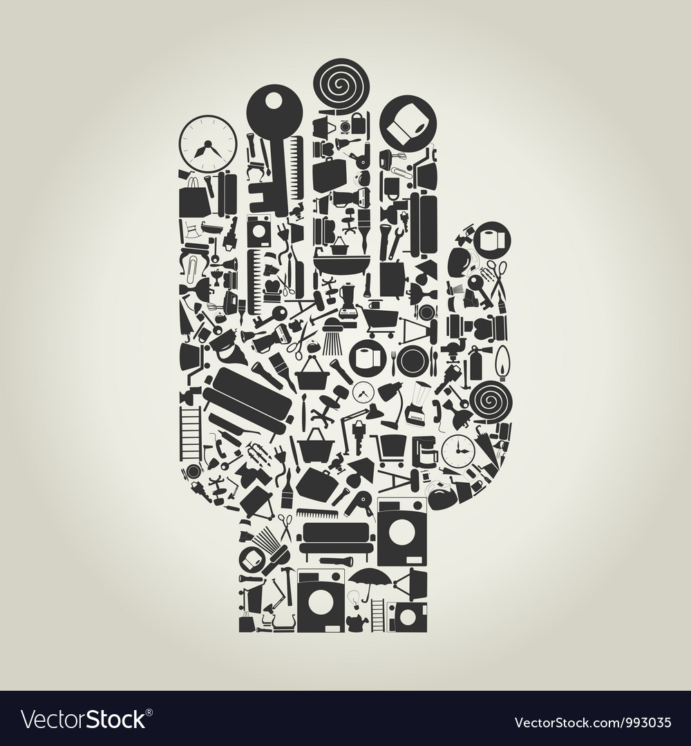 Hand house subjects vector   Price: 1 Credit (USD $1)