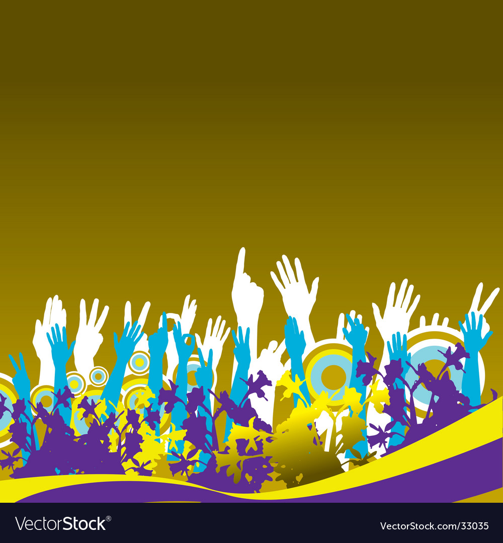 Hands in the air vector | Price: 1 Credit (USD $1)