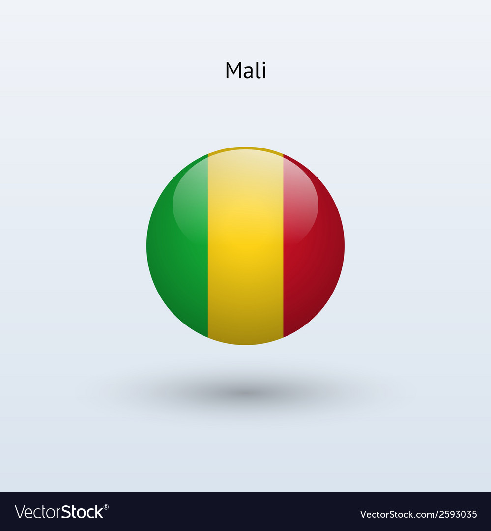 Mali round flag vector | Price: 1 Credit (USD $1)
