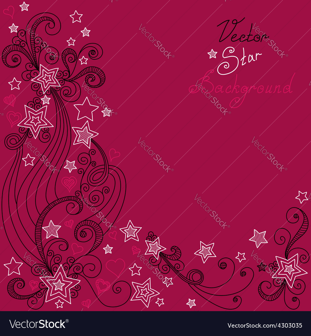 Red star pattern vector | Price: 1 Credit (USD $1)