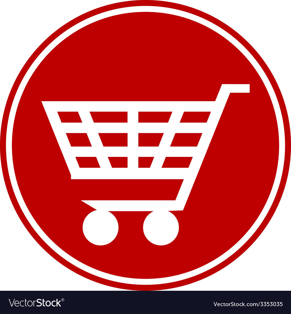 Shopping cart button vector | Price: 1 Credit (USD $1)