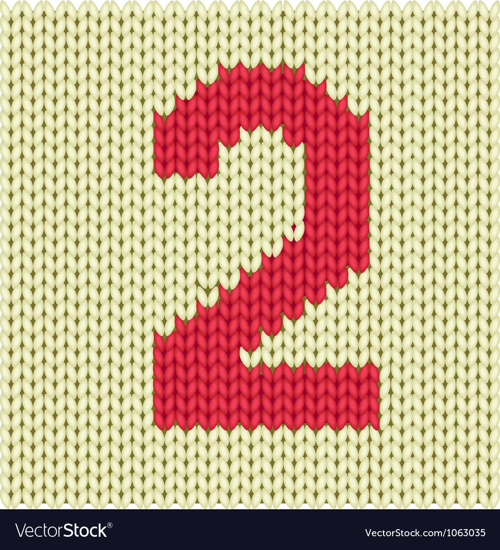 Silhouette of woven number vector | Price: 1 Credit (USD $1)