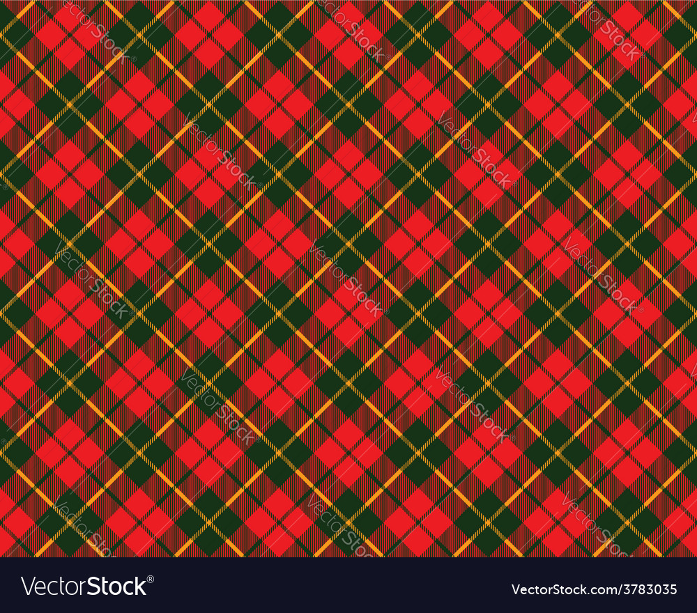 Tartan fabric texture diagonal pattern seamless vector | Price: 1 Credit (USD $1)