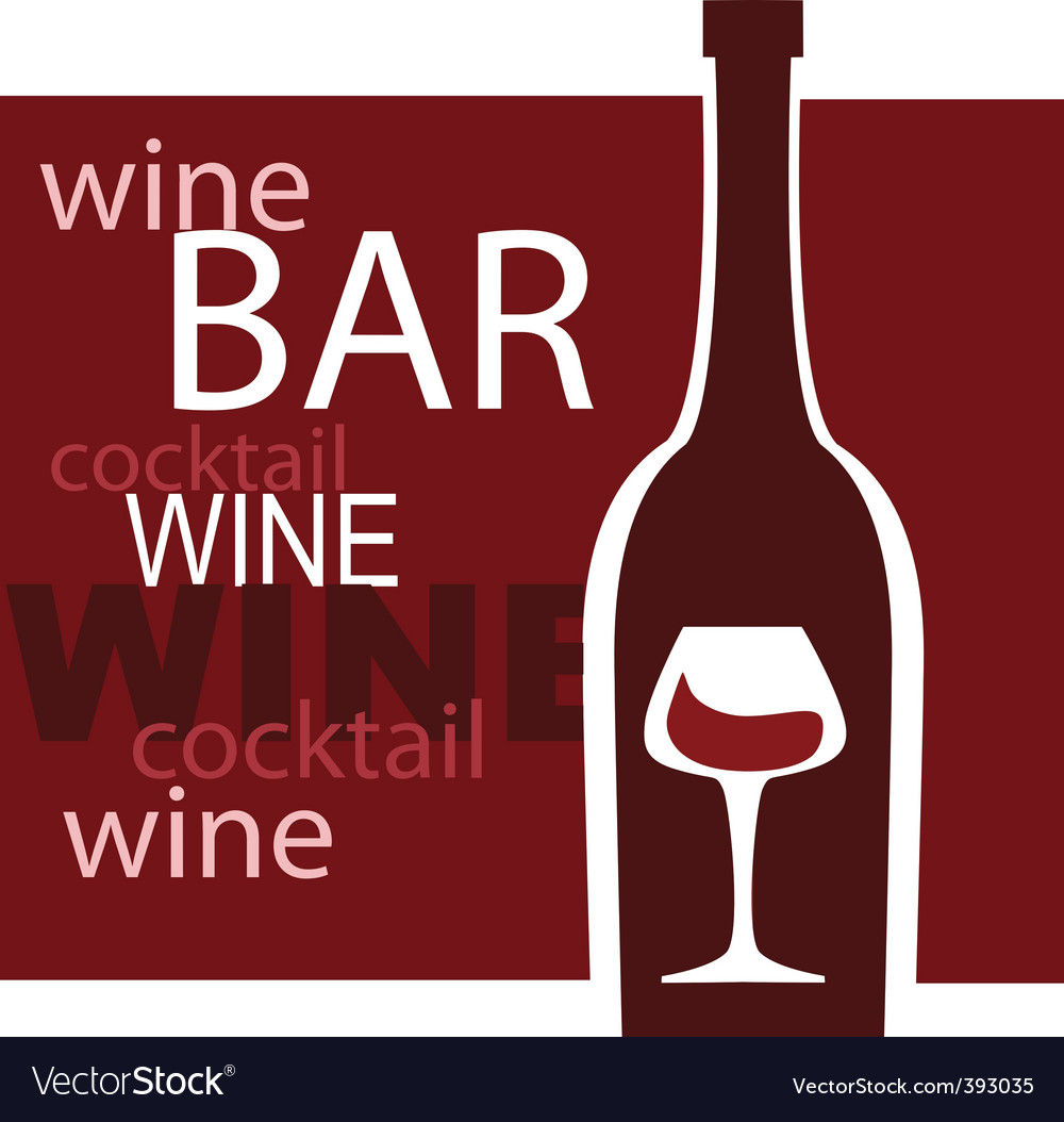 Wine and bar vector | Price: 1 Credit (USD $1)