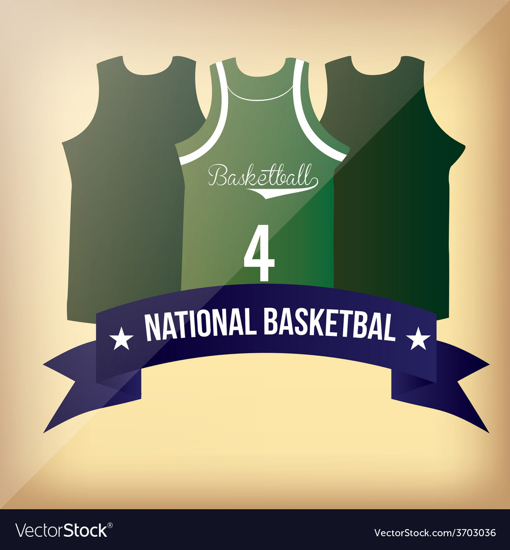 A set of basketball uniforms and a blue ribbon wit vector   Price: 1 Credit (USD $1)