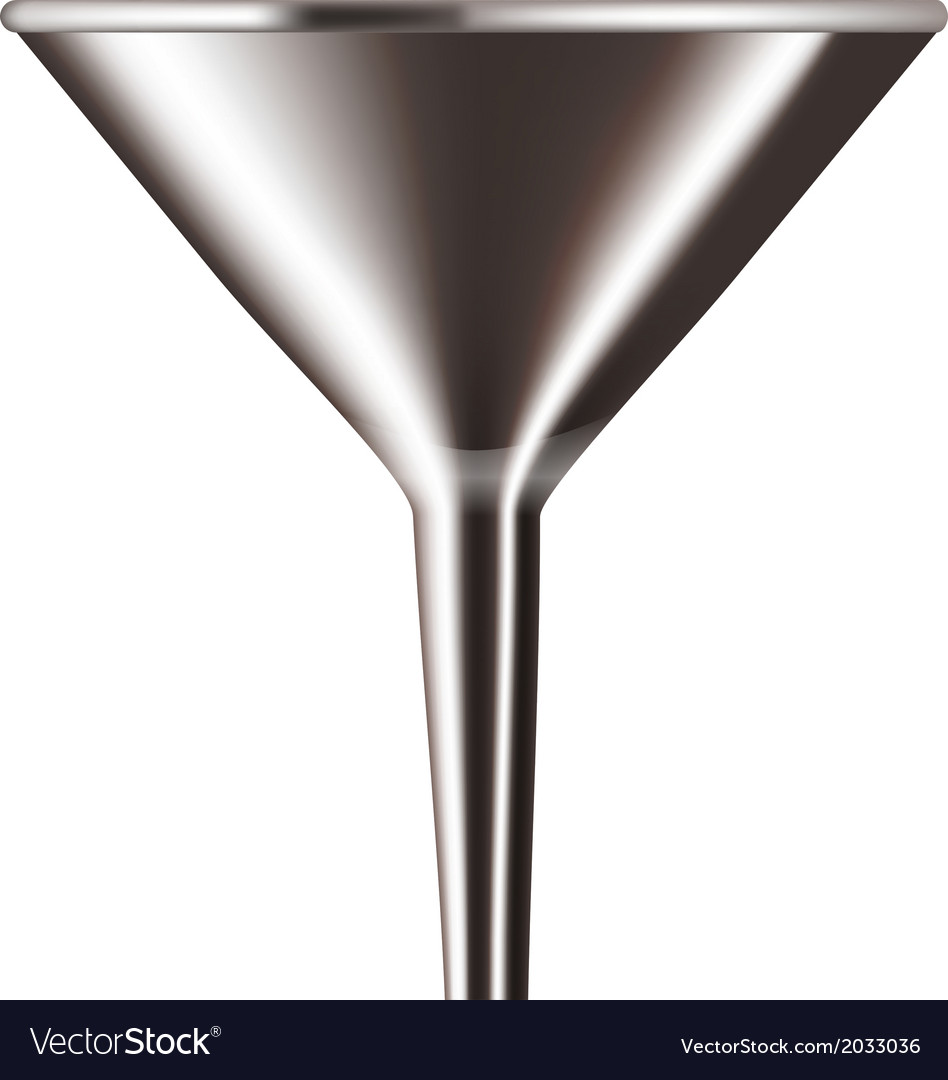 Funnel chrome isolated on white background vector | Price: 1 Credit (USD $1)