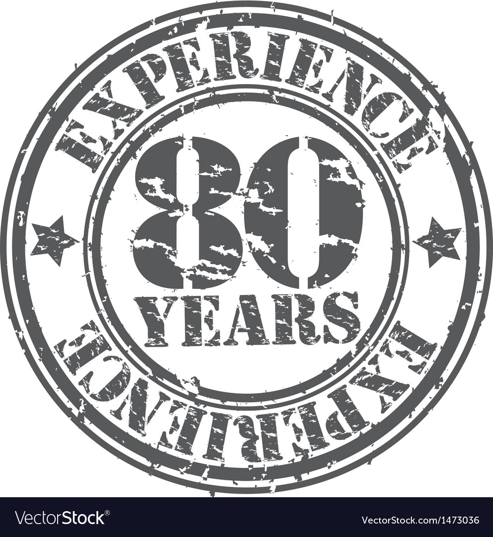 Grunge 80 years of experience rubber stamp vector | Price: 1 Credit (USD $1)