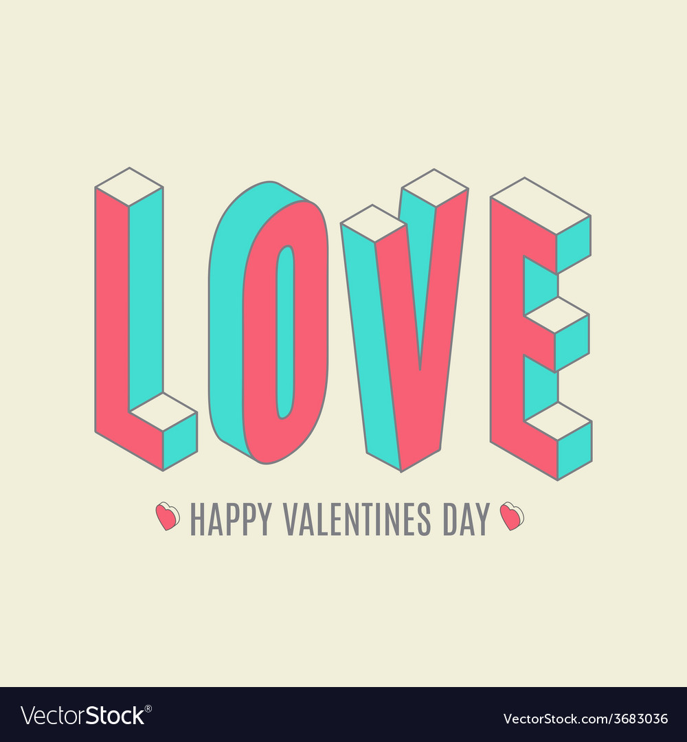 Happy valentines day card i love you vector | Price: 1 Credit (USD $1)