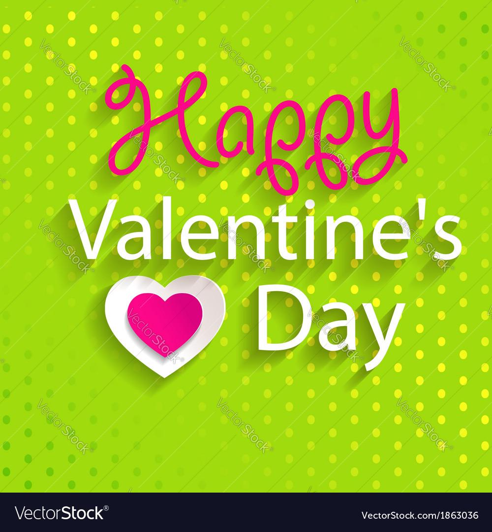 Happy valentines day design vector | Price: 1 Credit (USD $1)