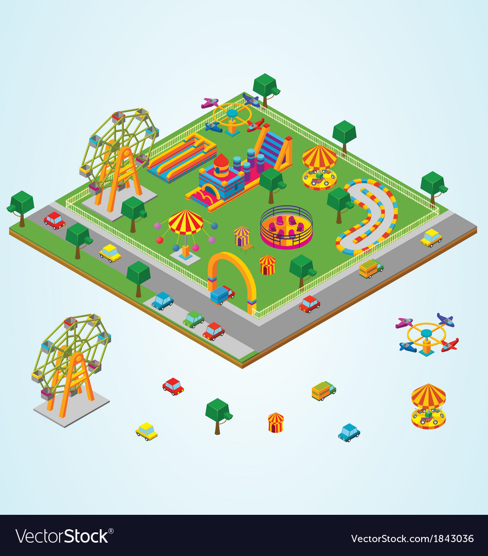 Isometric carnival vector | Price: 1 Credit (USD $1)
