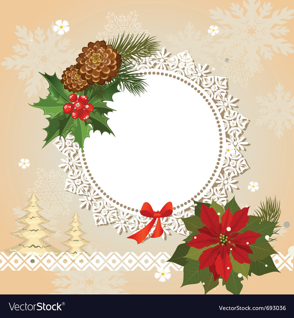 Ornamental christmas frame vector | Price: 1 Credit (USD $1)