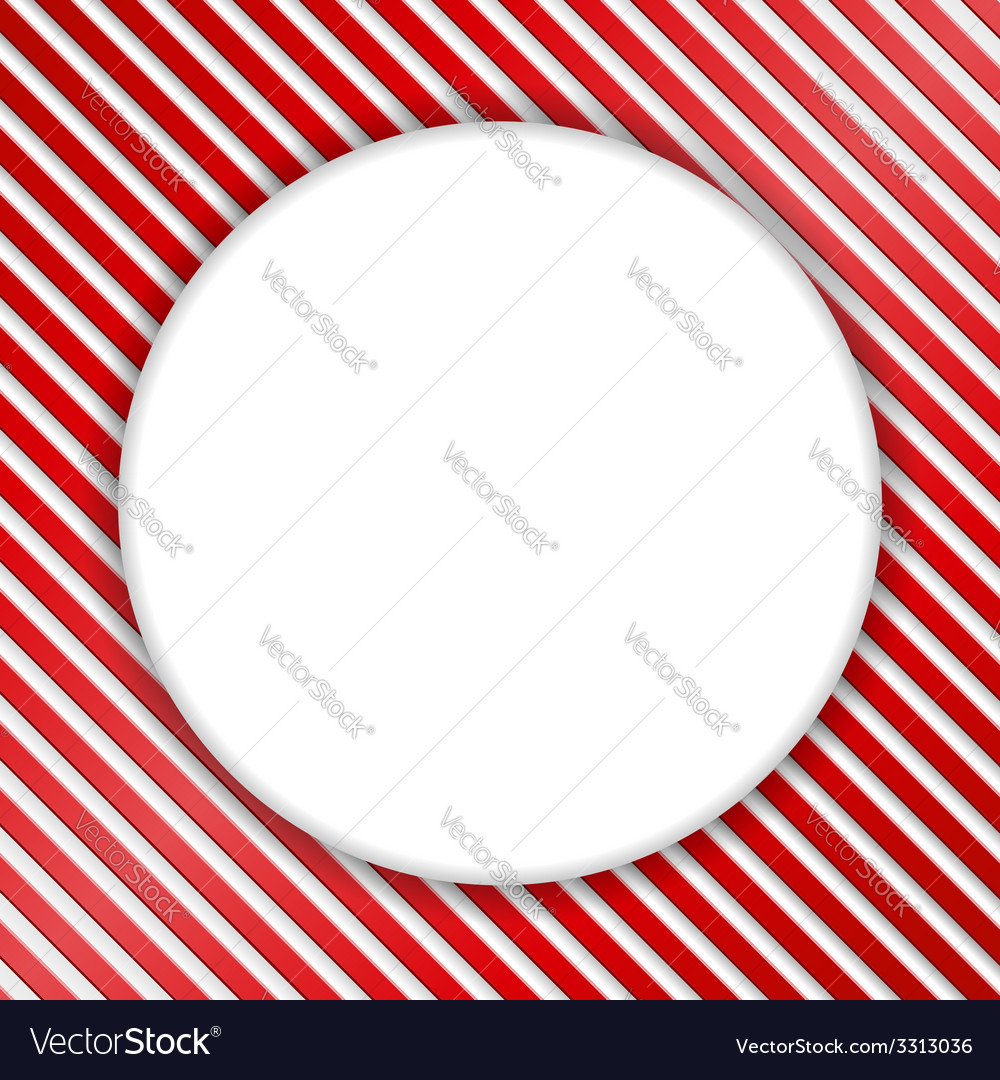 Round banner on striped background vector | Price: 1 Credit (USD $1)