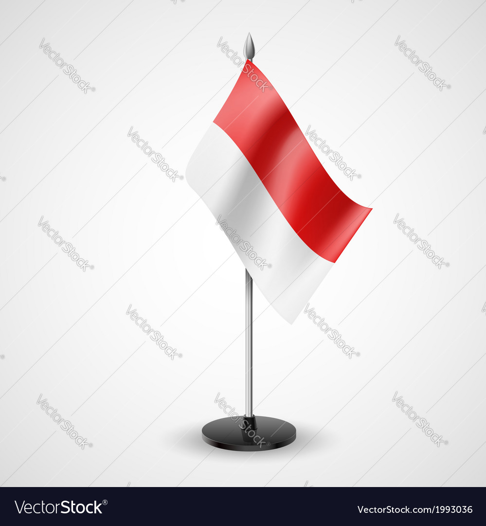 Table flag of monaco vector | Price: 1 Credit (USD $1)