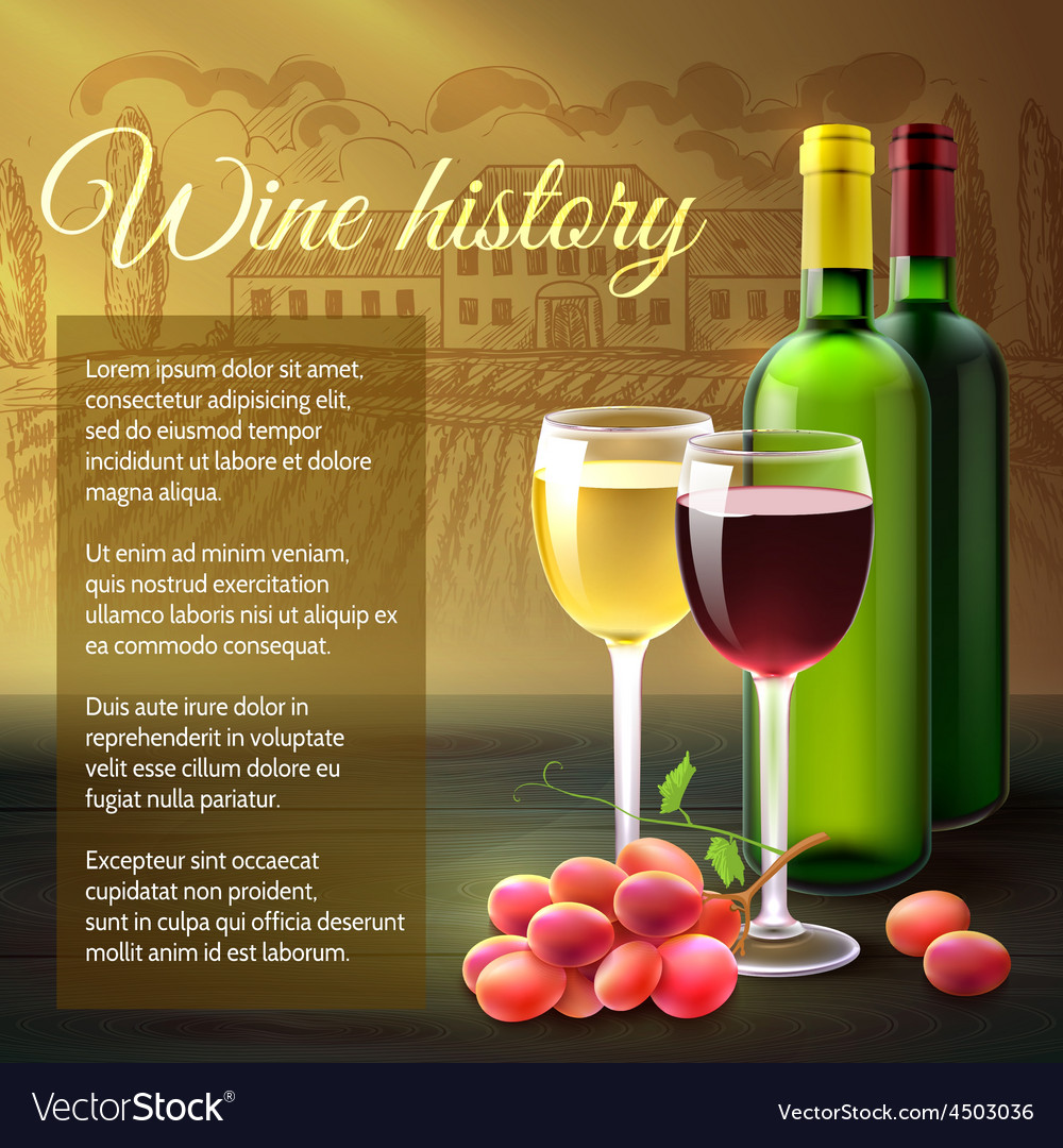 Wine realistic background vector | Price: 3 Credit (USD $3)