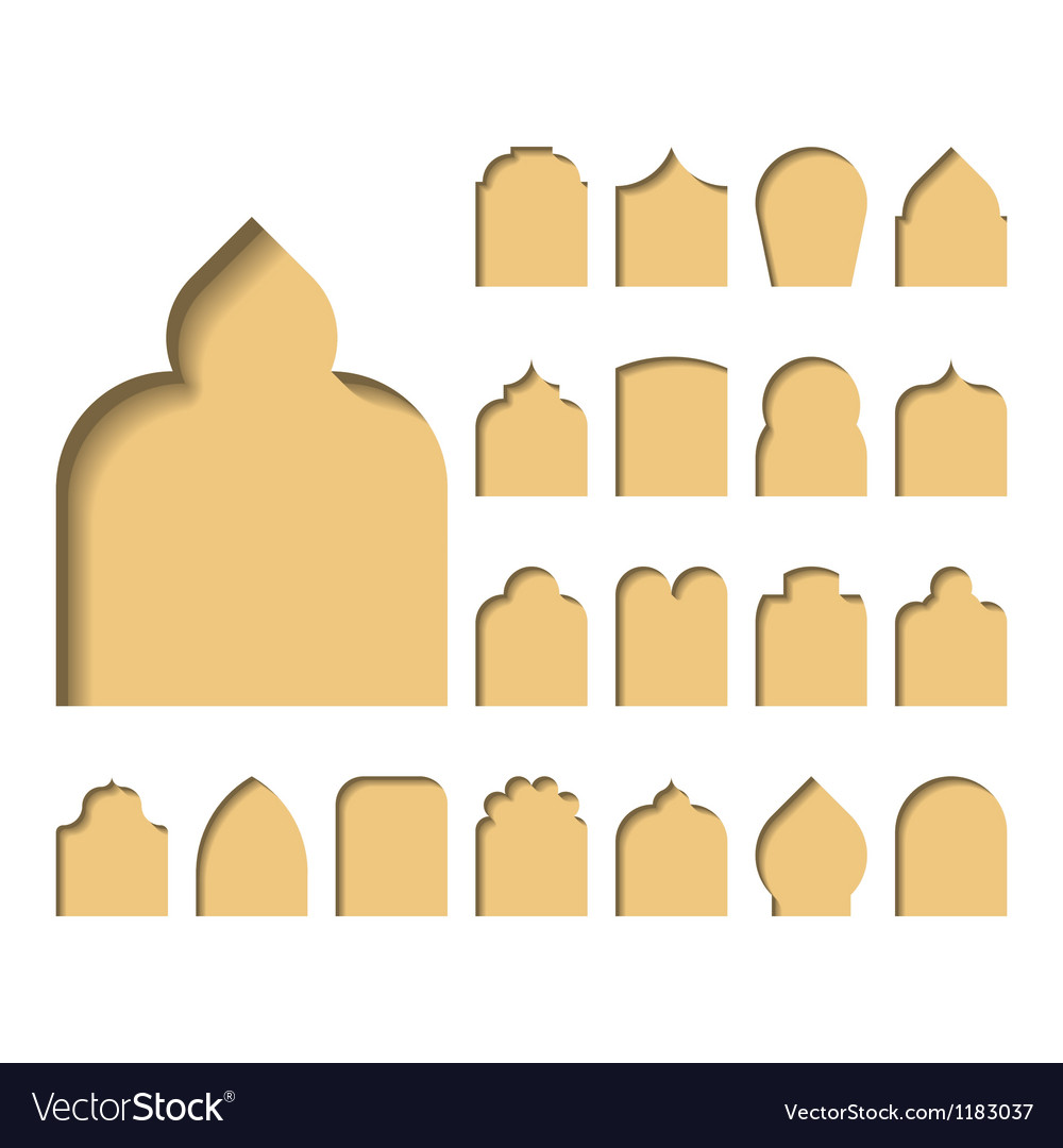 Arch types vector   Price: 1 Credit (USD $1)