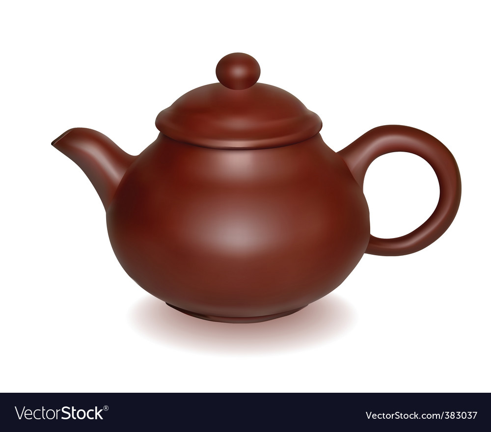 Clay brewing teapot vector | Price: 1 Credit (USD $1)
