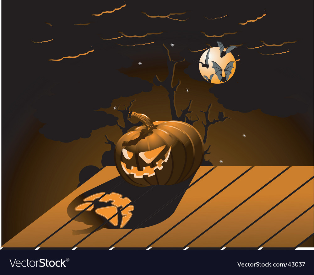 Halloween pumpkin with burning eyes vector | Price: 1 Credit (USD $1)