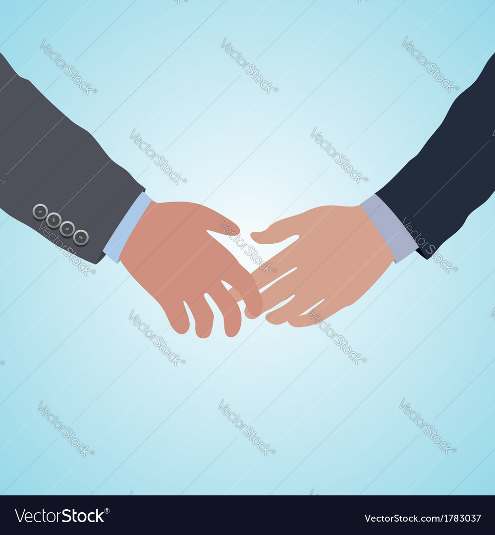 Handshake agreement vector | Price: 1 Credit (USD $1)