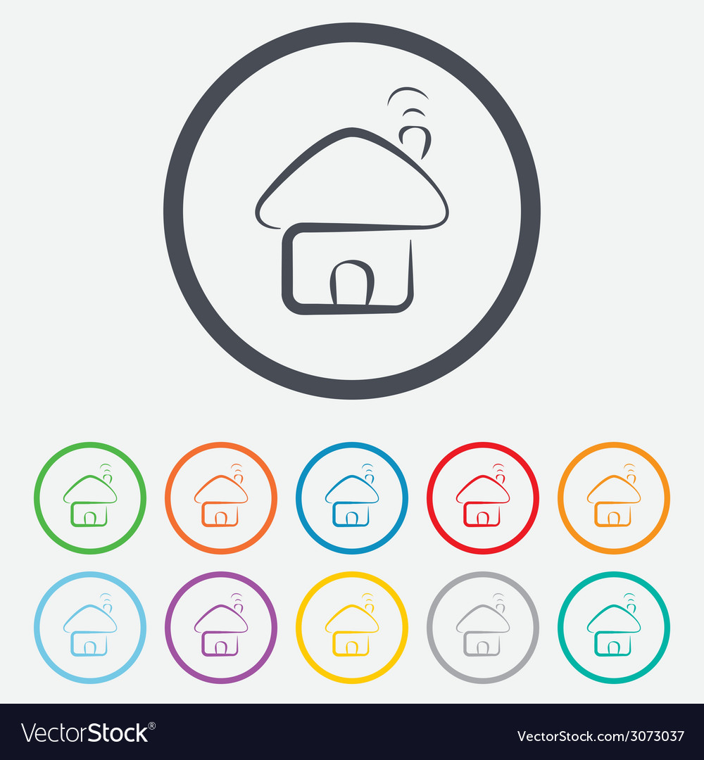 Home sign icon main page button navigation vector   Price: 1 Credit (USD $1)