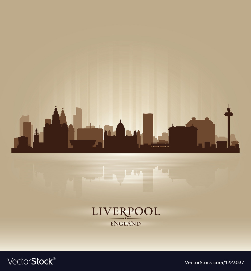 Liverpool england skyline city silhouette vector | Price: 1 Credit (USD $1)