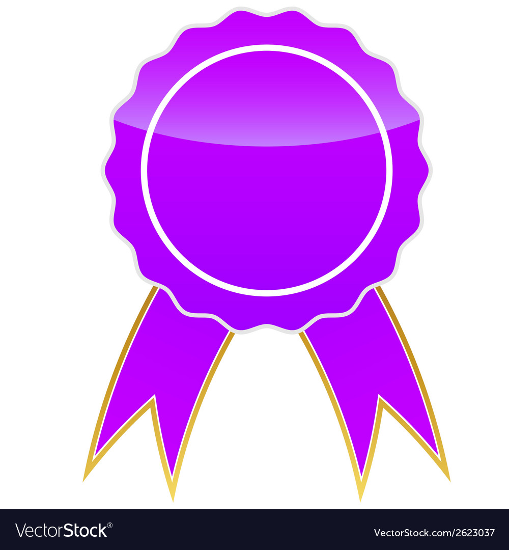 Purple medal vector | Price: 1 Credit (USD $1)
