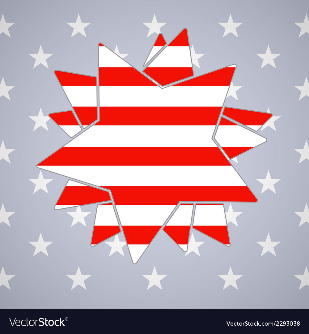 The abstract star with american flag vector | Price: 1 Credit (USD $1)