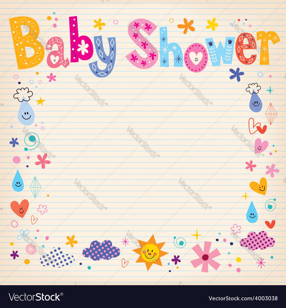 Baby shower invitation card vector   Price: 1 Credit (USD $1)
