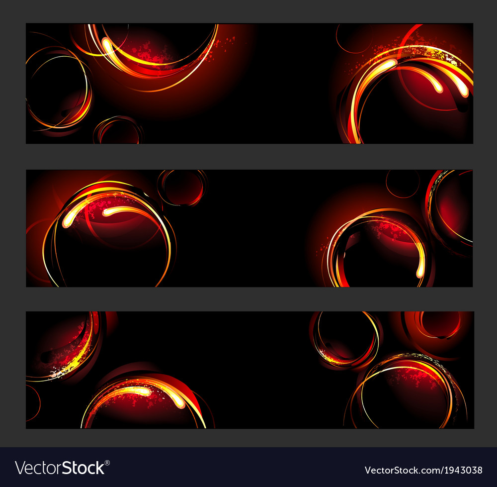 Banner with fire circles vector | Price: 1 Credit (USD $1)