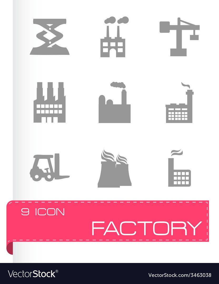 Factory icons set vector   Price: 1 Credit (USD $1)