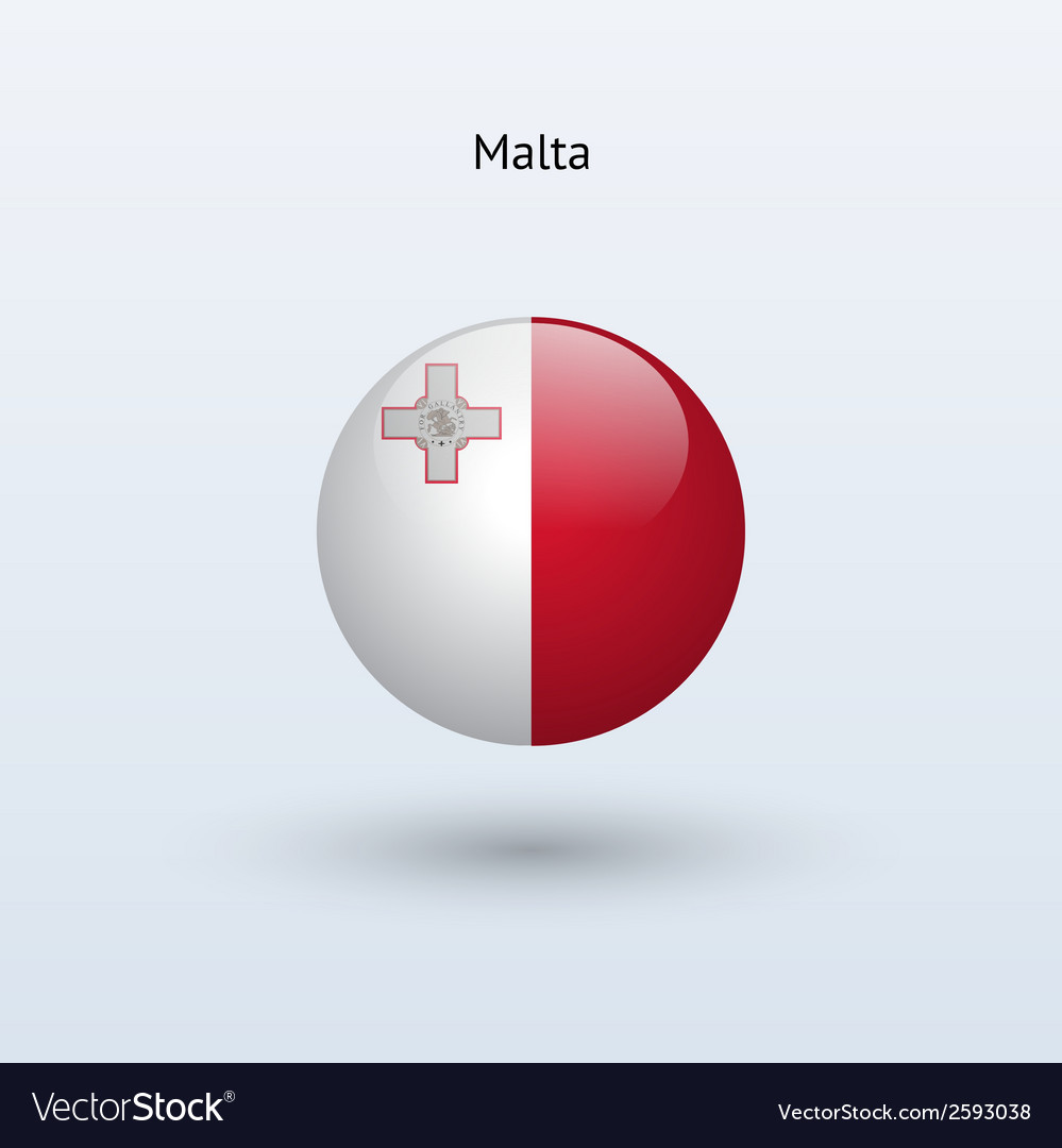 Malta round flag vector   Price: 1 Credit (USD $1)