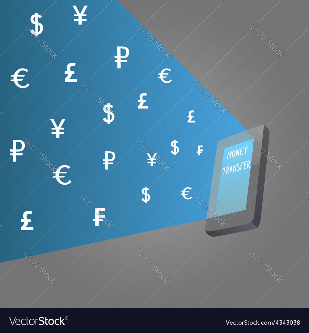 Money transfer vector | Price: 1 Credit (USD $1)
