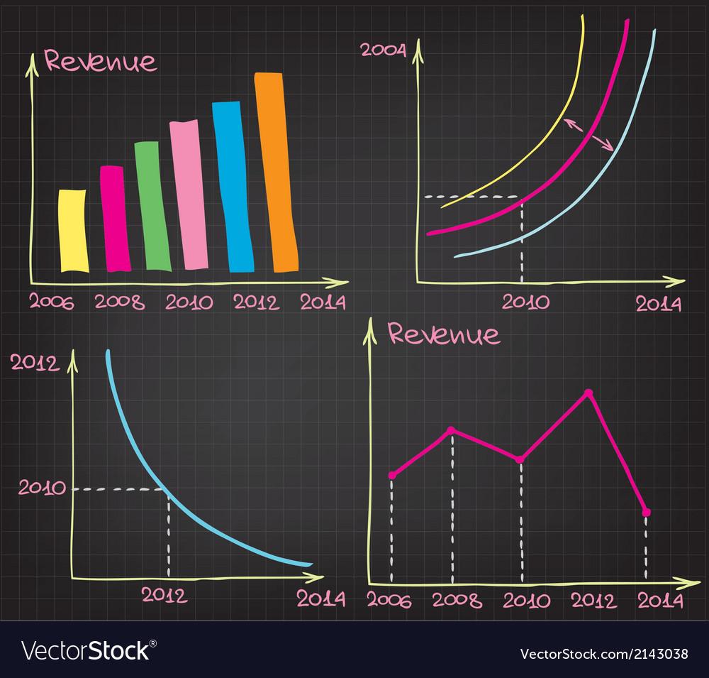 Profit charts vector | Price: 1 Credit (USD $1)