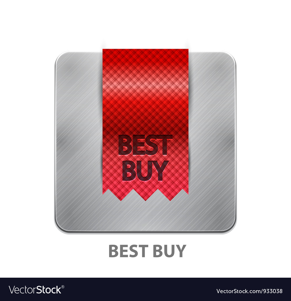 Red ribbon mobile app button vector | Price: 1 Credit (USD $1)