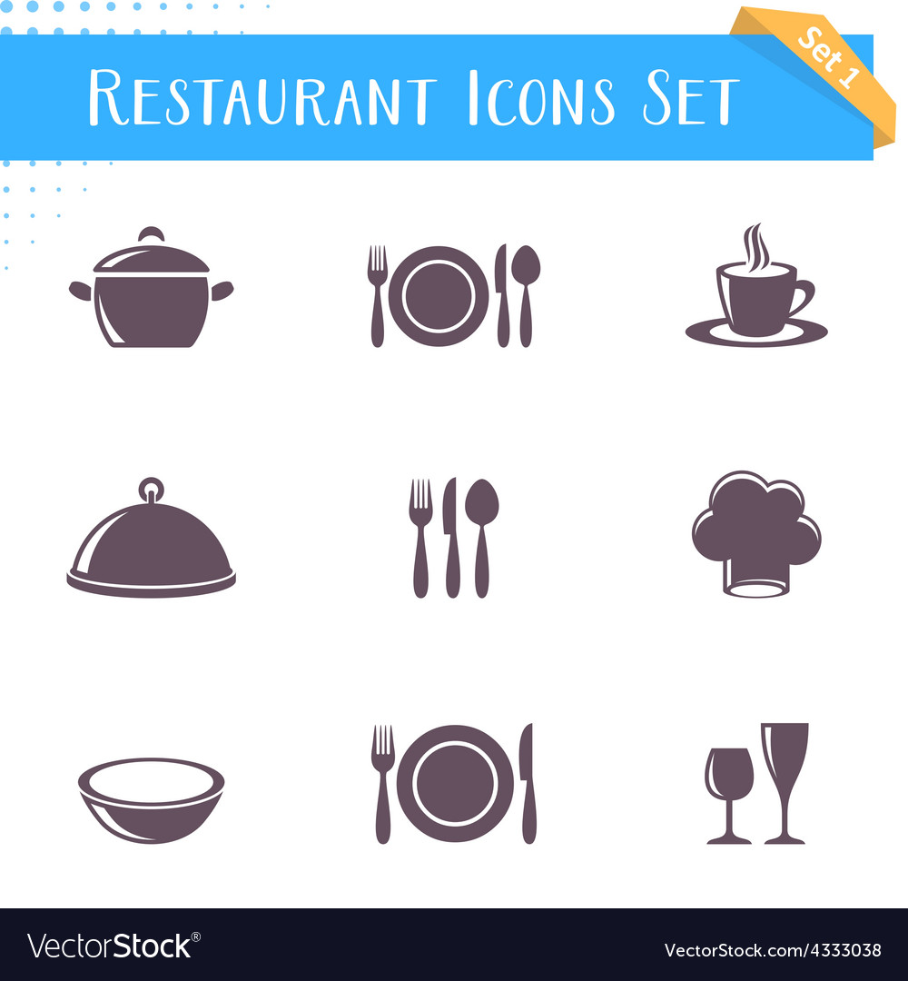 Restaurant icons collection vector   Price: 1 Credit (USD $1)