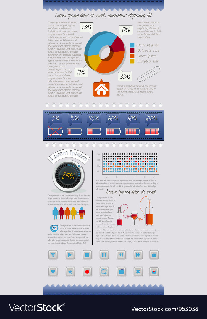 Set of elements infographics and icons vector | Price: 3 Credit (USD $3)