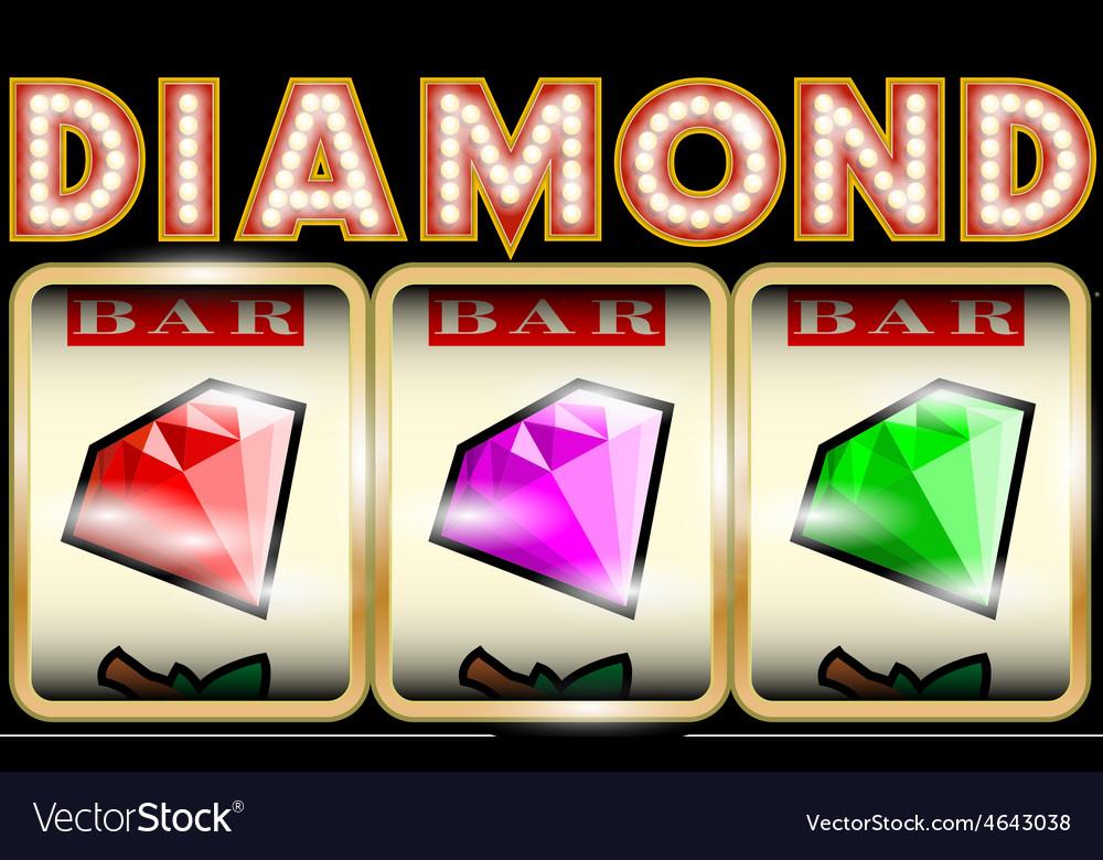 Slot machine with diamonds vector | Price: 1 Credit (USD $1)