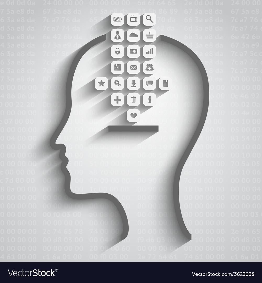 Think design vector | Price: 1 Credit (USD $1)