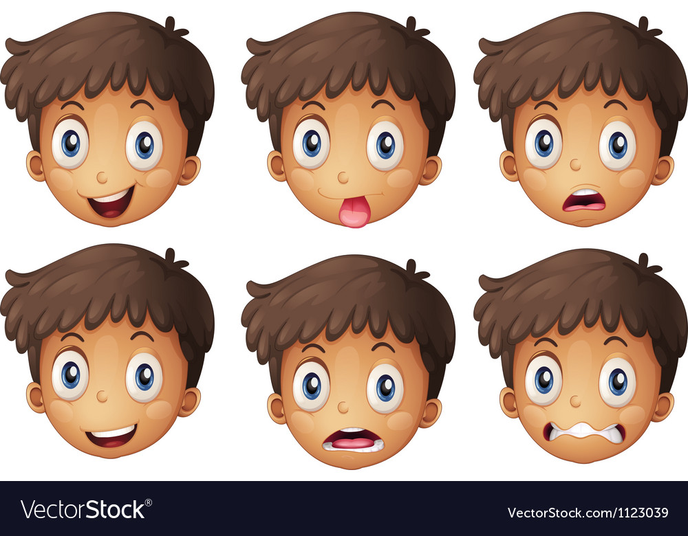 A face of a boy vector | Price: 1 Credit (USD $1)