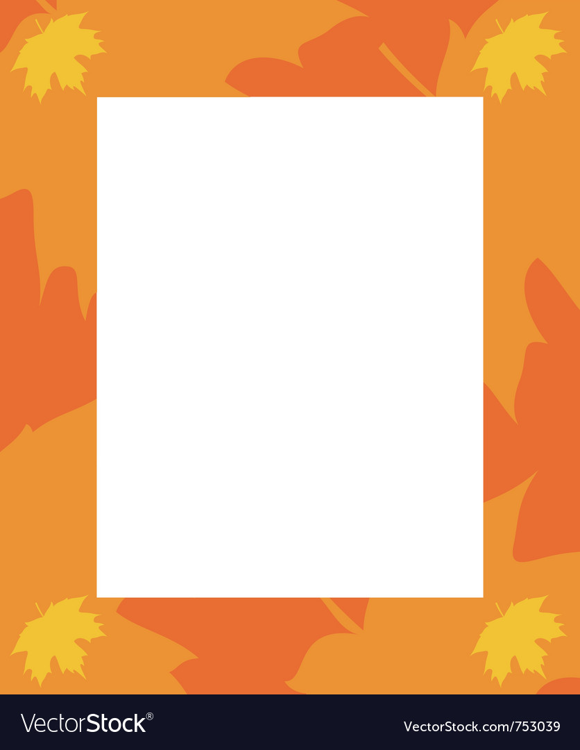 Frame autumn vector | Price: 1 Credit (USD $1)