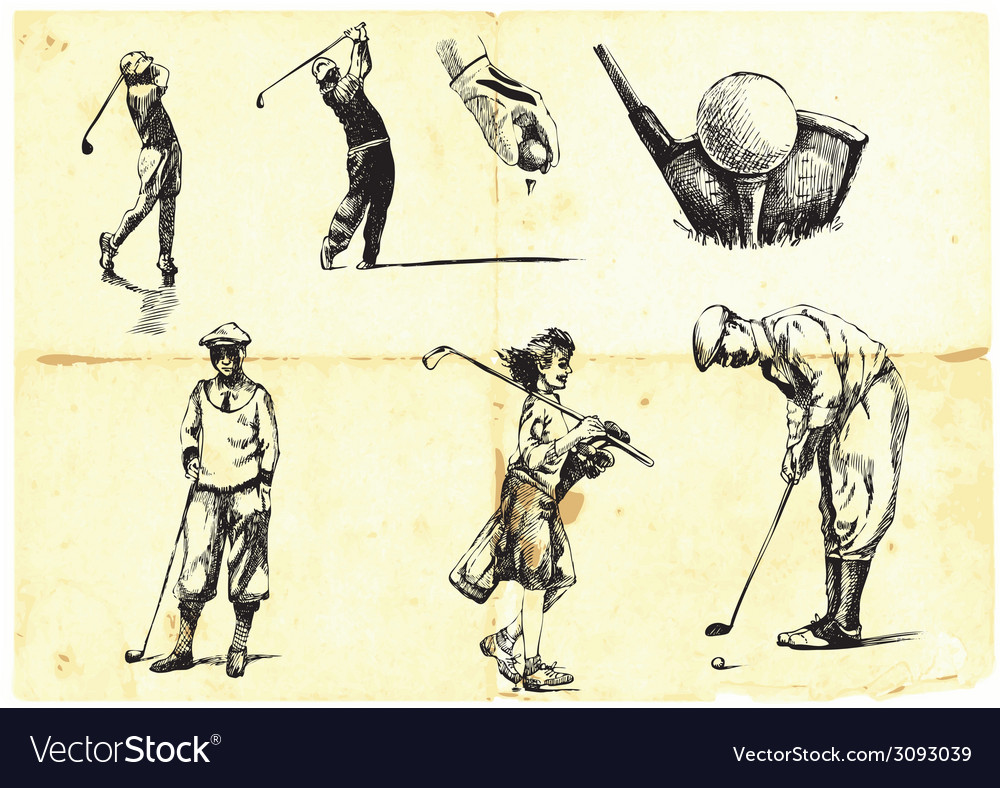 Golf collection vector | Price: 1 Credit (USD $1)