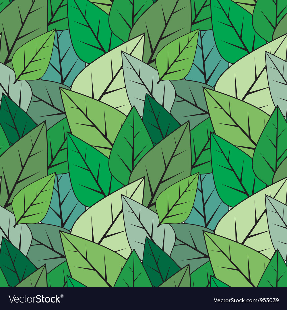 Green seamless abstract leaves texture vector | Price: 1 Credit (USD $1)
