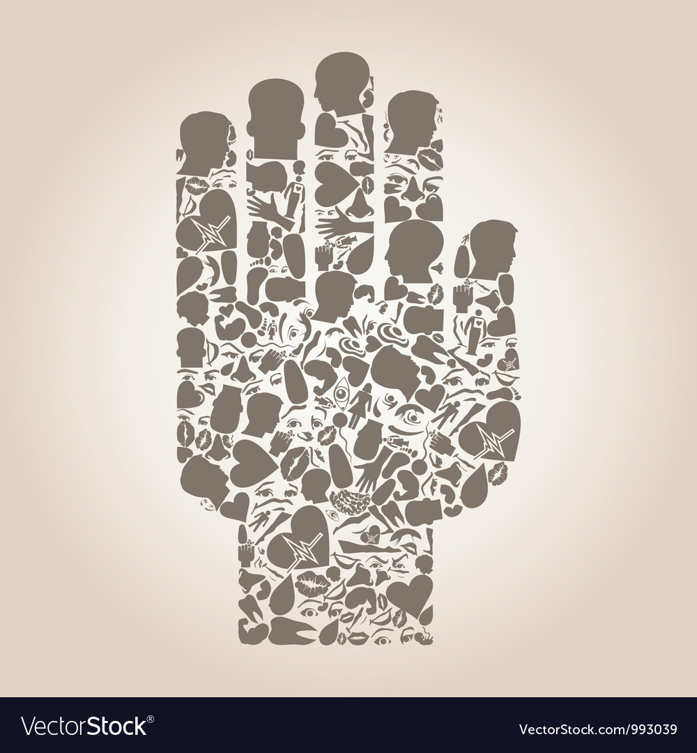 Hand of a part of a body vector | Price: 1 Credit (USD $1)