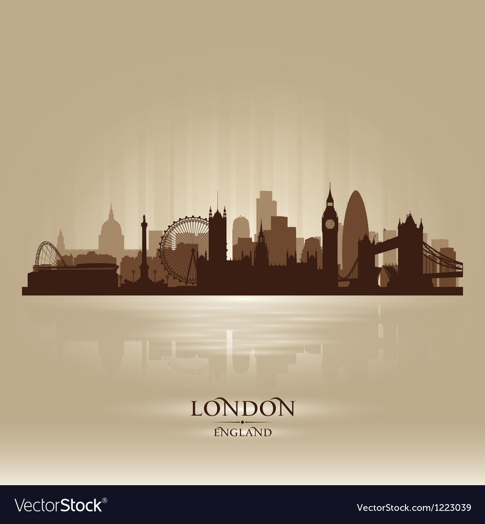 London england skyline city silhouette vector | Price: 1 Credit (USD $1)