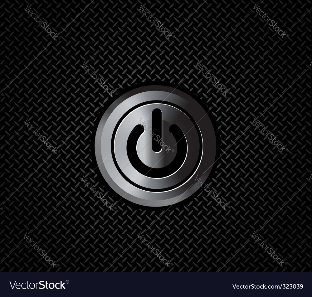 Metal button power vector | Price: 1 Credit (USD $1)