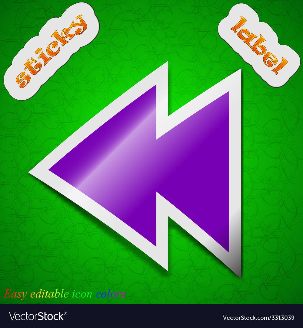 Multimedia control icon sign symbol chic colored vector | Price: 1 Credit (USD $1)