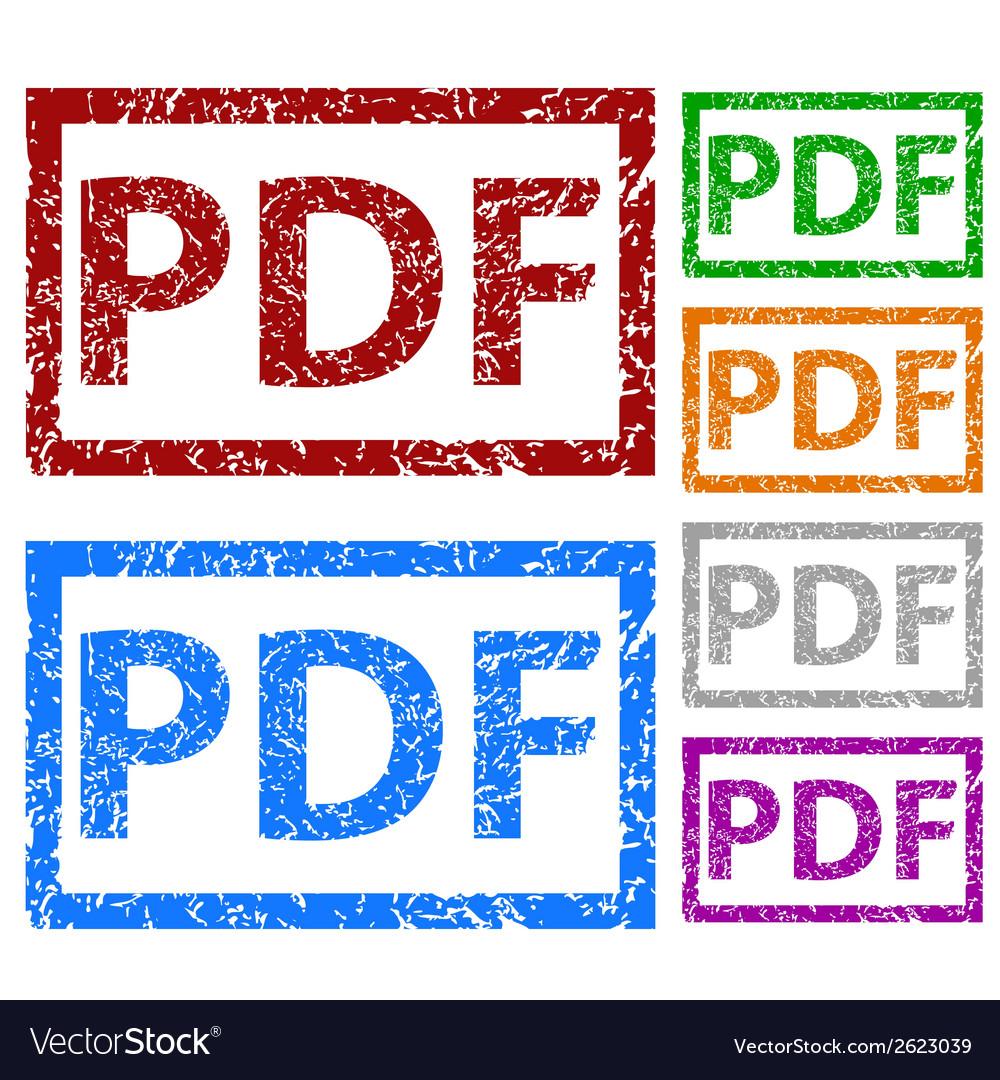 Pdf grunge rubber stamp set vector | Price: 1 Credit (USD $1)